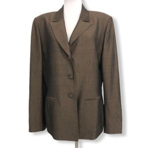 TAHARI Arthur S. Levine Blazer Jacket Copper Brown